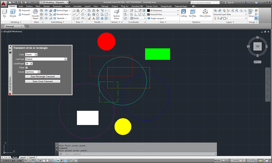 Drawing Lines In Autocad Using Coordinates : Autodesk autocad javascript api getting started guide to